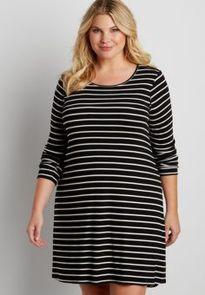 Amazing plus size striped dress outfits ideas 68