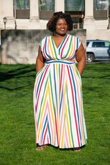 Amazing plus size striped dress outfits ideas 78