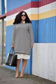 Amazing plus size striped dress outfits ideas 94