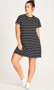 Amazing plus size striped dress outfits ideas 95
