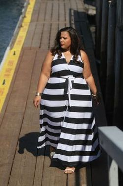 Amazing plus size striped dress outfits ideas 96