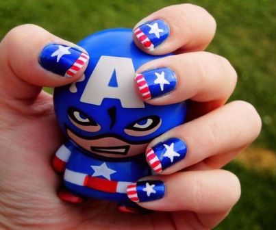 Awesome american flag nail art 10
