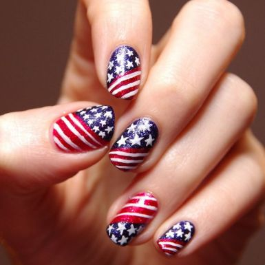 Awesome american flag nail art 14