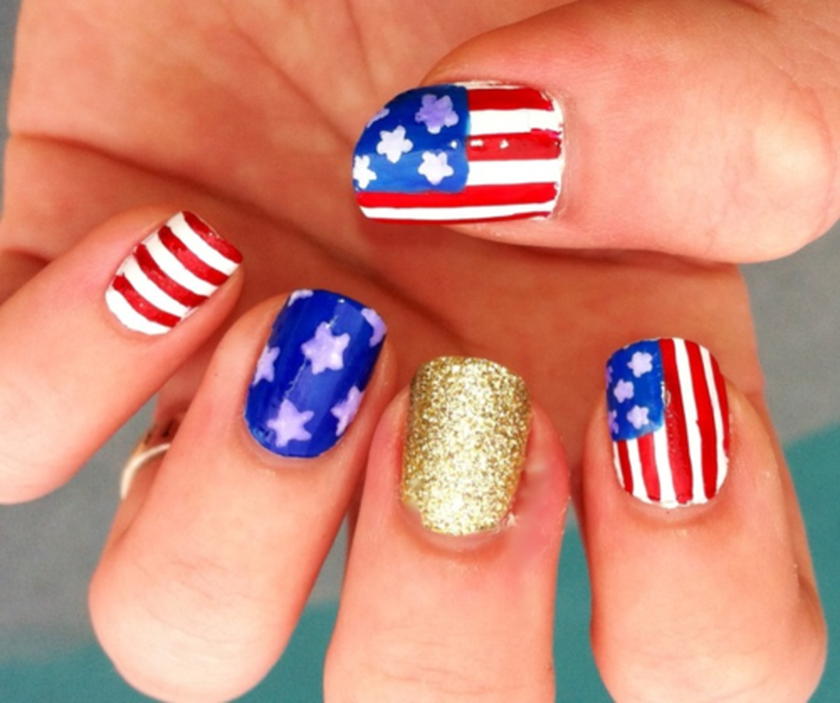 Awesome american flag nail art 17