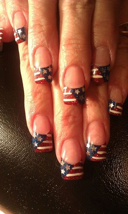 Awesome american flag nail art 19