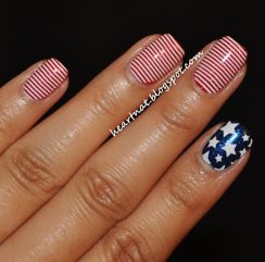 Awesome american flag nail art 4