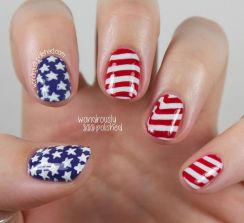 Awesome american flag nail art 5