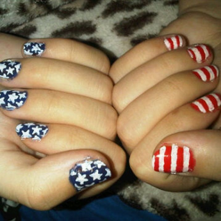 Awesome american flag nail art 6