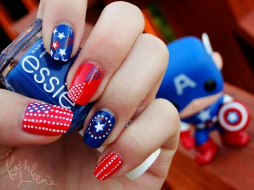 Awesome american flag nail art 7