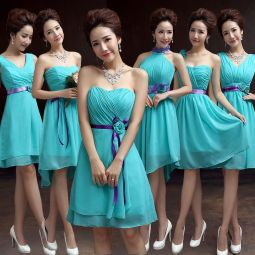 Awesome elegance turquoise bridesmaid dress 22