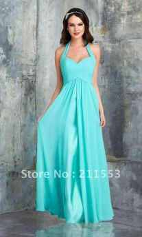 Awesome elegance turquoise bridesmaid dress 3