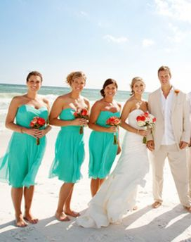 Awesome elegance turquoise bridesmaid dress 4