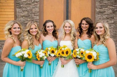 Awesome elegance turquoise bridesmaid dress 40