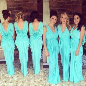 Awesome elegance turquoise bridesmaid dress 46