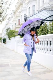 Awesome rainy day outfit style 10