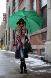 Awesome rainy day outfit style 16