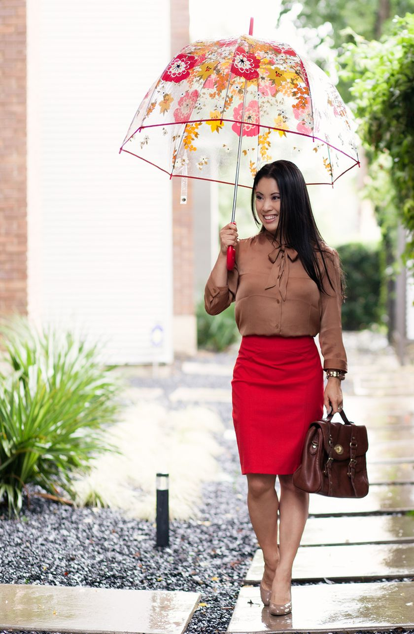 Awesome rainy day outfit style 18