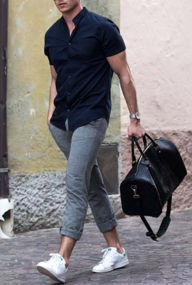 Cool mens gym and workout outfits style 18