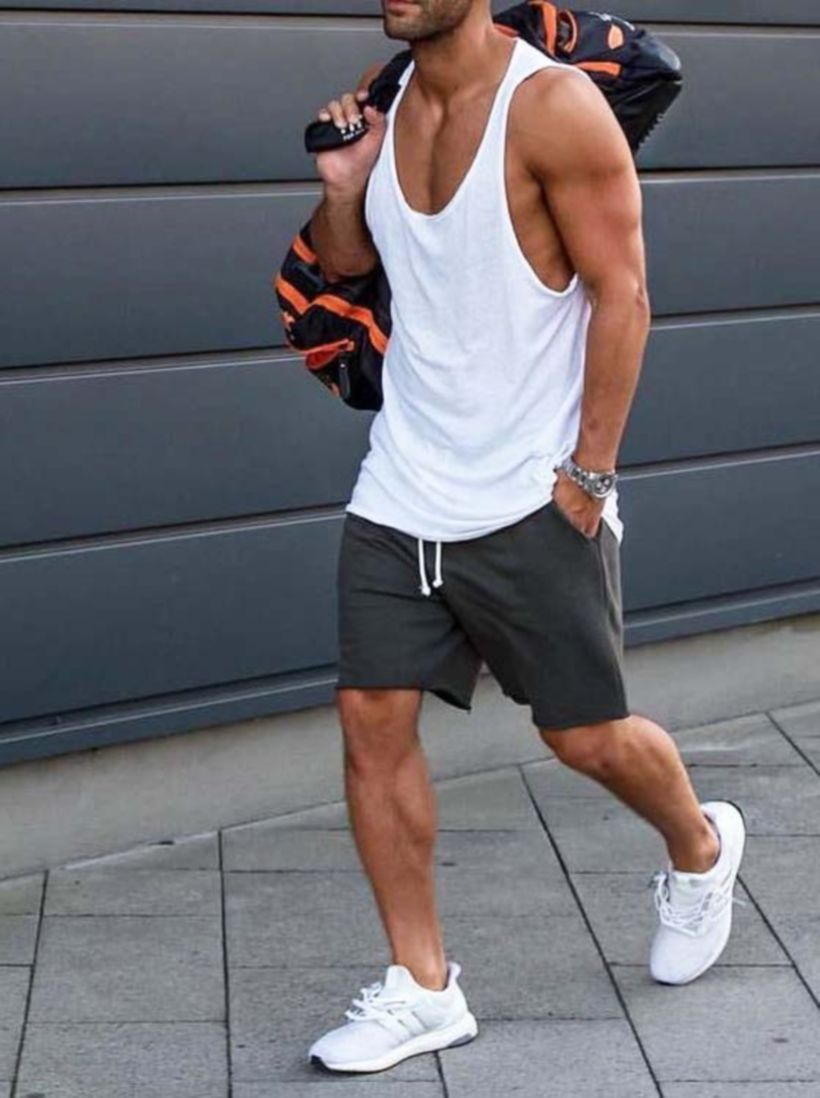 Cool mens gym and workout outfits style 6