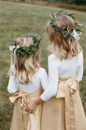 Cute bridesmaid dresses for little girls ideas 14