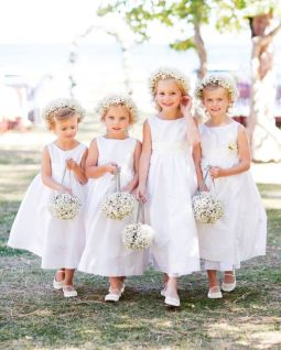 Cute bridesmaid dresses for little girls ideas 82