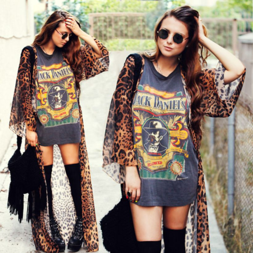 Cute oversized t shirt outfit styles 39