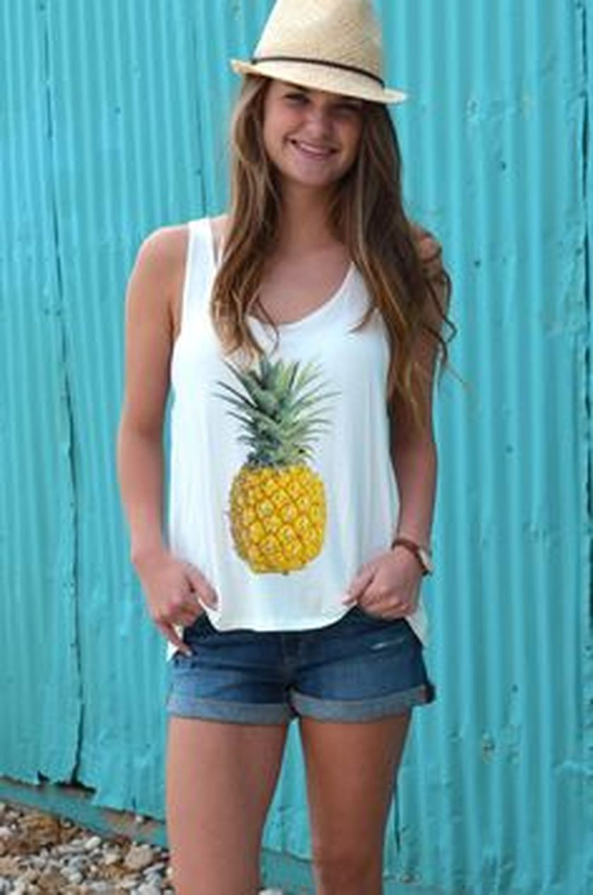 Cute pineapple tank top must you have 25