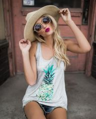 Cute pineapple tank top must you have 50