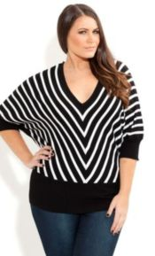Fabulous plus size striped shirt outfits 14