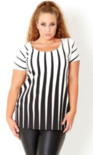 Fabulous plus size striped shirt outfits 19