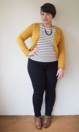 Fabulous plus size striped shirt outfits 25