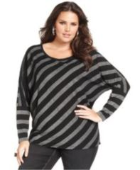 Fabulous plus size striped shirt outfits 35