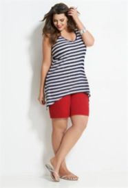 Fabulous plus size striped shirt outfits 46