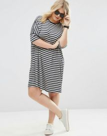 Fabulous plus size striped shirt outfits 47