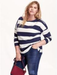 Fabulous plus size striped shirt outfits 52