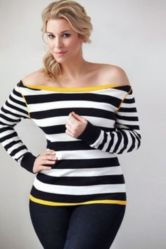 Fabulous plus size striped shirt outfits 54