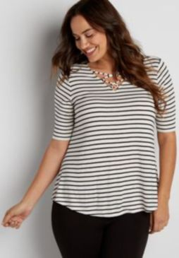 Fabulous plus size striped shirt outfits 56