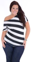 Fabulous plus size striped shirt outfits 6