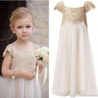 Gorgeous flower girl lace dresses ideas 2