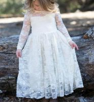Gorgeous flower girl lace dresses ideas 4