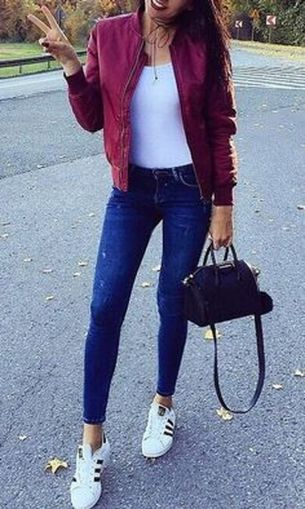How to wear white sneaker for spring outfits 124