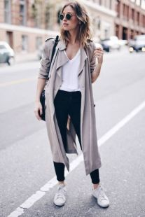 How to wear white sneaker for spring outfits 14