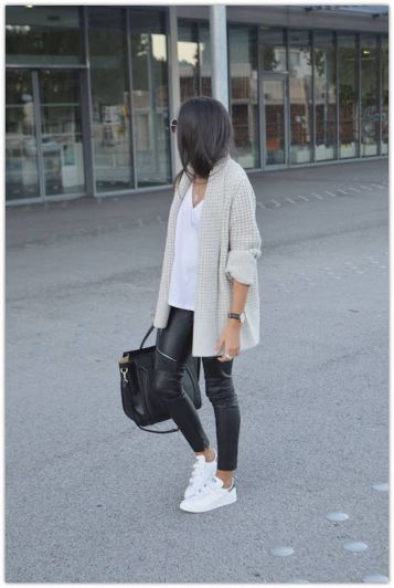 How to wear white sneaker for spring outfits 155