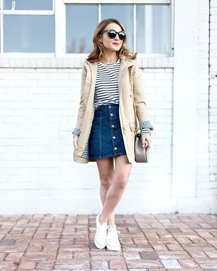 How to wear white sneaker for spring outfits 28