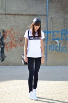How to wear white sneaker for spring outfits 40