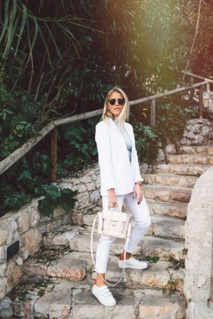How to wear white sneaker for spring outfits 83
