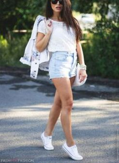 How to wear white sneaker for spring outfits 96
