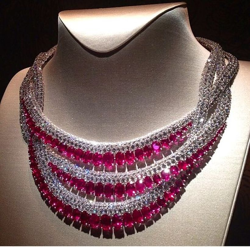 Magnificent burmese ruby and diamond necklace 19