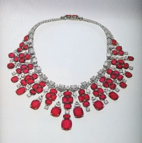 Magnificent burmese ruby and diamond necklace 21