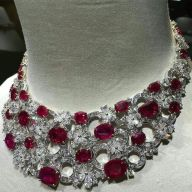 Magnificent burmese ruby and diamond necklace 28